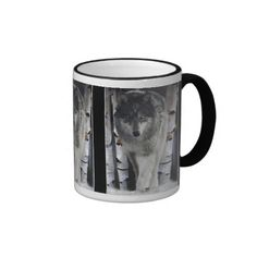 GREY PACK WOLF Wildlife Gift coffee mug