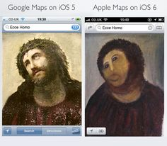 Difference between Google and Apple maps