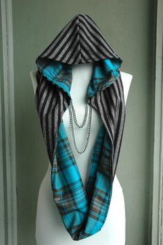 Fun hooded infinity scarf