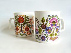 Two pretty Kiln Craft mugs - I love them!
