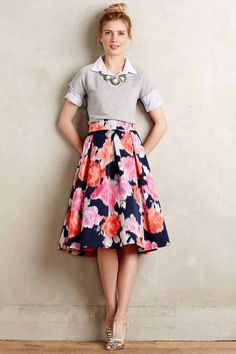 Perfect Floral Skirt #Summer Outfit Ideas