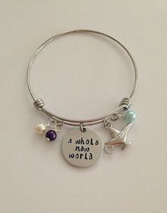 Disney inspired Aladdin bangle bracelet a by BellaRayneDesigns