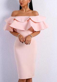Florine Ruffle Dress - Florine Ruffle Dress Pink / L Dress Source by angelandichu - Simple Dresses, Elegant Dresses, Cute Dresses, Beautiful Dresses, Short Dresses, Dresses For Work, Formal Dresses, Pink Dresses, Pink Ruffle Dress