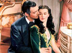 clark gable and vivien leigh as scarlett o'hara and rhett butler, gone with the wind (1939)
