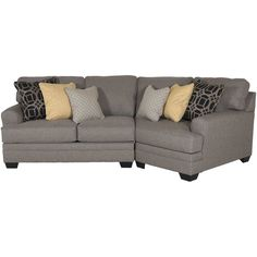 Best Cresson 2 Piece Pewter Sectional With Laf Chaise 2 Piece 400 x 300