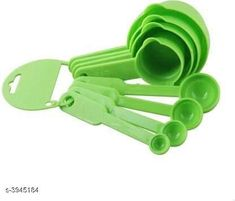 Measuring Cups Home Useful Trendy Essential Kitchen Tool Material: Plastic  Size: Free Size Description:  It has 8 pieces of Measuring Cup Green Country of Origin: India Sizes Available: Free Size   Catalog Rating: ★4 (1858)  Catalog Name: Dream Home Useful Trendy Essential Kitchen Tools Vol 2 CatalogID_556060 C135-SC1658 Code: 761-3945184-552