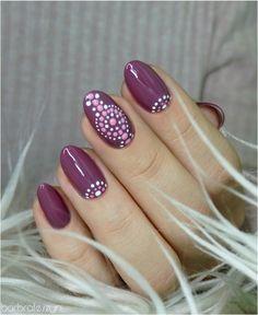Freehand dots nails : RedditLaqueristas