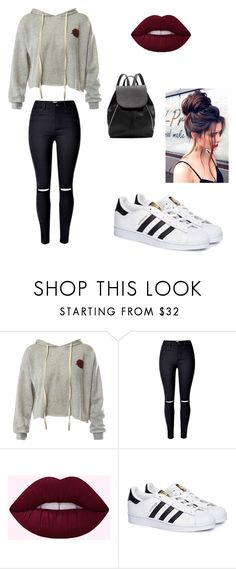 """""""My First Polyvore Outfit"""" by tedikotka-az ❤ liked on Polyvore featuring Sans Souci, adidas and Witchery"""