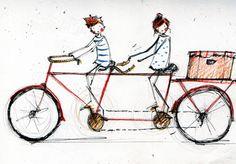 not a bike - but a cool bike postcard