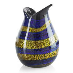 GIULIO RADI (1895 - 1952) A.V.E.M. Reazioni policroma glass vase, Murano, ca. 1948