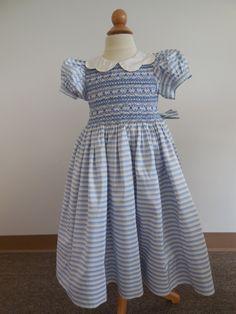 Beautiful Sailor blue Stripe Silk taffeta by Fabuloussewing