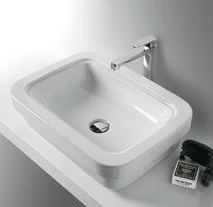Evolution lo trovi anche in versione #lavabo d'appoggio, una soluzione moderna e di #design per il tuo #bagno - www.gasparinionline.it #interiors #homedecor #ideebagno #italiandesign