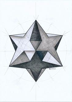 Regolo Geometric 3d, Geometric Drawing, Geometric Designs, Sacred Geometry Symbols, Geometry Art, Geometry Pattern, 3d Art Drawing, Art Drawings, Op Art