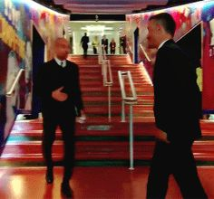 Pep & Lucho before Barcelona v. Man City match 4-0