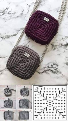 Bag Crochet, Crochet Handbags, Crochet Purses, Crochet Stitches, Crochet Baby, Crochet Clutch, Knitting Patterns, Crochet Patron