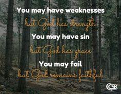God is faithful despite of our failures