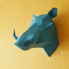 Warthog Boar Paper Thophy Wild Pig Paper Trophy by Paperstatue