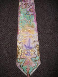 Handbemalte Seide-Krawatte von aminamarei auf Etsy