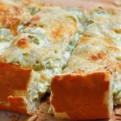 Artichoke Bread - its really just an artichoke dip baked onto bread instead of using crackers to dip into and it is really good. If you have a favorite dip already then use it instead (if you want). I have one with spinach that I really like. This one is really good too though so try it.