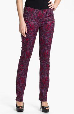Isaac Mizrahi Jeans 'Emma' Straight Leg Print Jeans