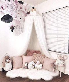 Unique 10 Layers Yarn Princess Bed Net Canopy- White – TYChome Children''s room ideas and inspiration for Katharine Dever Bed Net Canopy, Bed Canopy With Lights, Baby Bed Canopy, Bed Tent, Baby Bedroom, Bedroom Decor, Room Baby, Playroom Decor, Canopy Curtains