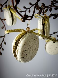 French Macaron Ornaments by CreativeAbubot on Etsy