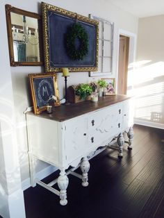 White buffet in the dining room - White buffet in the dining room . - White buffet in the dining room room – White buffet in the dining room # - Furniture Handles, Cabinet Furniture, Dining Room Furniture, Refinished Furniture, Painted Furniture, Furniture Ideas, Antique Dining Rooms, Antique Buffet, Diy Interior