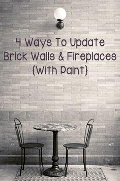 4 Ways To Update Brick Walls & Fireplaces