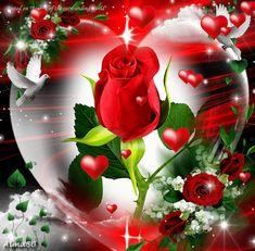 Všetko najlepšie k meninám praje rodina Reichelova Rose Flower Wallpaper, Flowery Wallpaper, Flowers Gif, Heart Wallpaper, Love Heart Images, Rose Images, Heart Pictures, Coeur Gif, Happy Marriage Anniversary