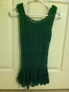 lace and peplum tank top