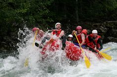 Riding the bull. Our guide let me do this on the toughest class 4 rapid today. Whitewater Rafting, British Columbia, Lunch, Eat Lunch
