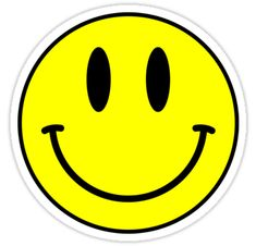 """""""Acid House Smile Face"""" Stickers by Chairboy   Redbubble Emoji Stickers, Be A Better Person, Smiley, Classic T Shirts, V Neck T Shirt, This Or That Questions, School, Emoticon"""