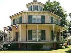 Octagon House - A Victorian house having eight sides; esp. found in the Hudson Valley of New York