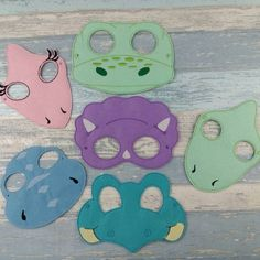 Woodland Mask Set - Felt Animals Owl Bee Rabbit Fox Hedgehog Mouse for Fancy Dress Up Pretend Play - Halloween Mask Party Mask School Play Dinosaur Party Activities, Toddler Party Games, Dinosaur Crafts, Dinosaur Games, Dinosaur Mask, Dinosaur Costume, Felt Mask, Halloween Party Themes, The Good Dinosaur