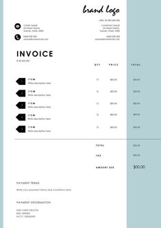 Minimal Invoice | Minimal, Template and Organizing