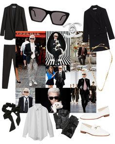 As the creative director for both Chanel and Fendi, Karl Lagerfeld's designs prove as difficult to capture into words as his personal style, other than being distinctively Karl. Tweed Shorts, Tweed Blazer, Blazer Dress, Tweed Jacket, High Fashion Trends, Sheer Socks, Chanel Couture, Slim Fit Trousers, Linen Jackets