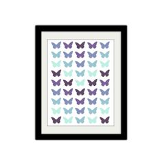 Butterfly Outline Poster. Minimal Butterfly. by SamsSimpleDecor, $15.00