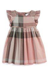 Burberry Cap Sleeve Dress (Baby Girls)