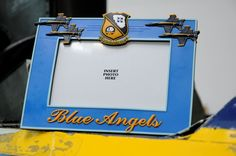 Blue Angels Picture Frame     Rubberized picture frame featuring the Blue Angels and the Blue Angels shield.  Holds a 4 x 6 photo SKU: 000073