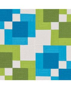 Closeup - GO! Rectangle Reflection Quilt Pattern (PQ10267)