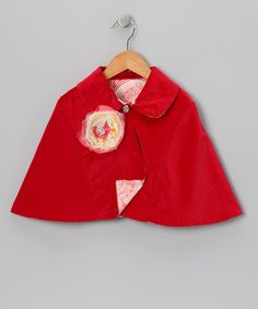 Take a look at this Apple Megan Cape - Infant & Girls by Moxie & Mabel on #zulily today!