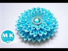 Повязка с цветами, МК / DIY Headband with Flowers / DIY Kanzashi Headband / Простые цветы из ленты - YouTube