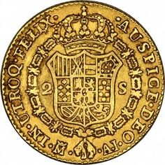Spanish 2 Scudi Gold Coins - Doubloons: