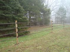 horseguard bi-polar electric fence. DIY job. Looks great!