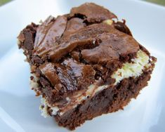 Cream Cheese Brownies - try replacing butter with coconut oil, replace cream cheese with PC greek yogurt cream cheese, and use less sugar
