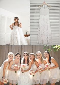 Beautiful wedding dress that is perfect for this stylish garden wedding.  Photo by Vela Images