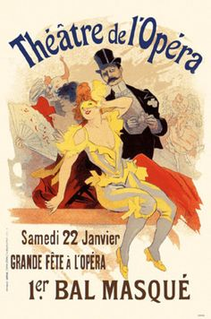 Theatre de l-Opera Bal 1898 poster by Cheret Jules. Subjects : Opera,Maitres de l-affiche. Lithography from ca Parisposters only offers original vintage posters. Vintage French Posters, French Vintage, French Postcards, Poster Art, Retro Poster, Art Posters, Poster Prints, Art Prints, Belle Epoque