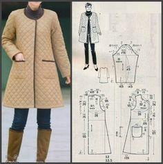 Image Article – Page 461548661809567869 Coat Patterns, Dress Sewing Patterns, Sewing Patterns Free, Clothing Patterns, Sewing Tutorials, Sewing Coat, Sewing Clothes, Costura Fashion, Long Winter Jacket
