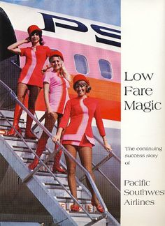 When I was a kid, I used to fly PSA if I was lucky.