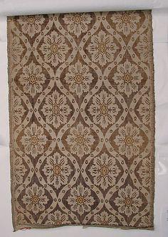 Brocade  Date:     17th century Geography:     Turkey Culture:     Islamic Medium:     Silk and cotton